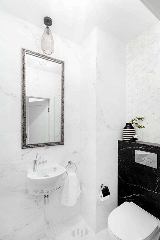 Galeria Zdjęć Zdjęcie Mała Biała łazienka Z Elementami