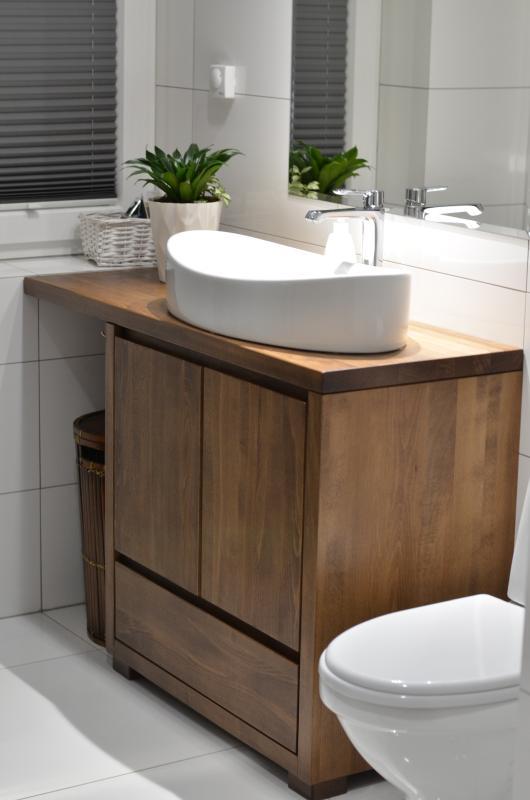 Edar - szafka łazienkowa z drewna, stojąca