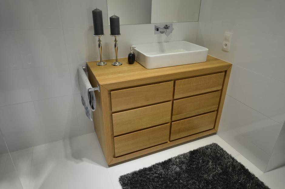 Edar - Komoda do łazienki z litego drewna dębowego