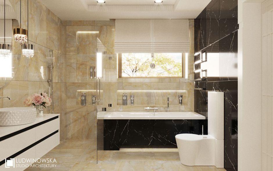 Galeria Zdjęć Zdjęcie łazienka W Stylu Glamour Z Wanną W