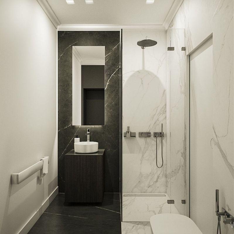 Galeria Zdjęć Zdjęcie Elegancka Mała łazienka Z Marmurem