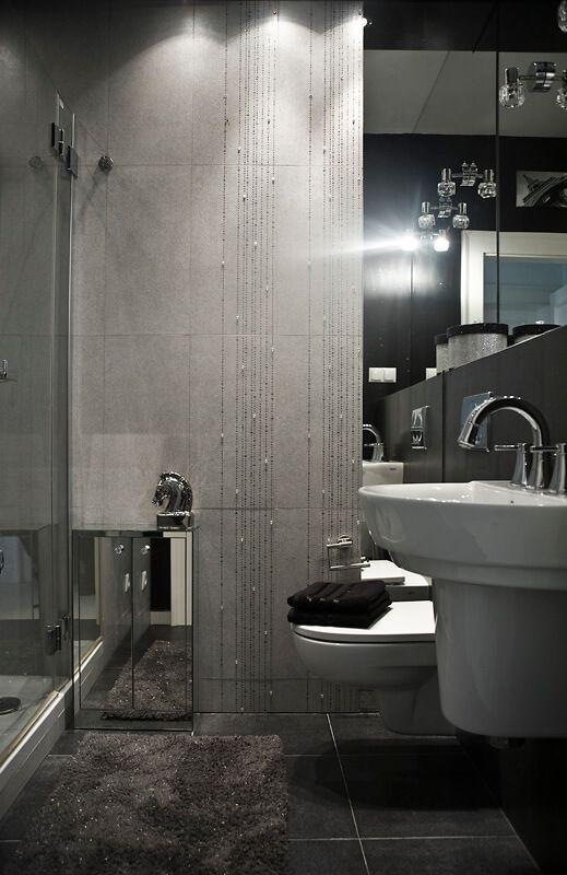Galeria Zdjęć Zdjęcie Mała Szara łazienka Z Elementami