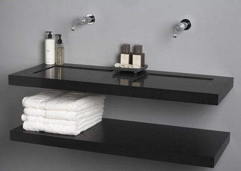 Umywalki Plytkie Galeria Czarna Umywalka Płaska