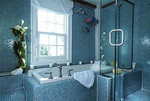 Niebieska azienka galeria niebieska azienka for Royal blue bathroom ideas
