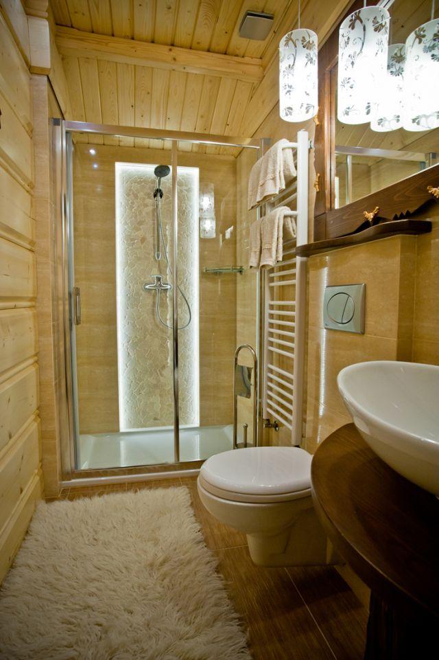podświetlenie w kabinie prysznicowej