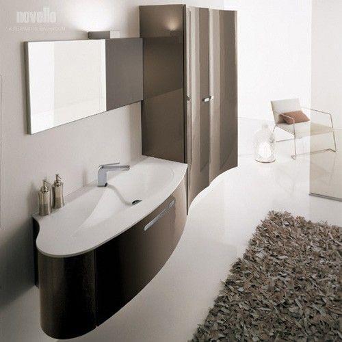Kompozycje azienkowe novello galeria szafka 2 drzwiowa z umywalka zintegrowan z blatem z for Salle de bain taupe et chocolat
