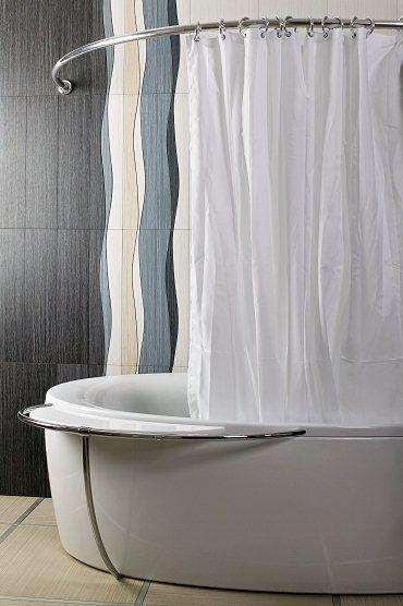 Wela - drążek prysznicowy i zasłona prysznicowa
