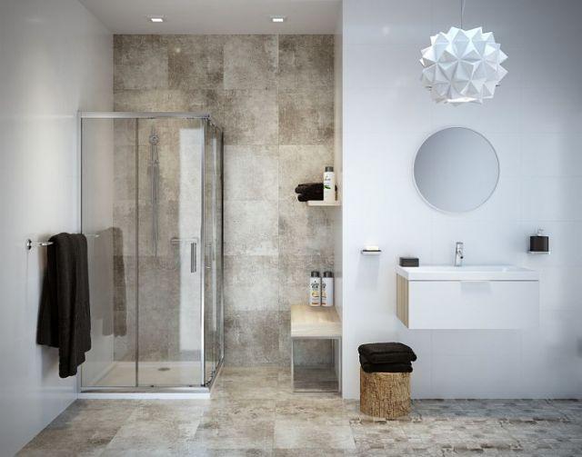 Cersanit - aranżacja łazienki z wykorzystaniem płytki Bristo Grey Mosaic