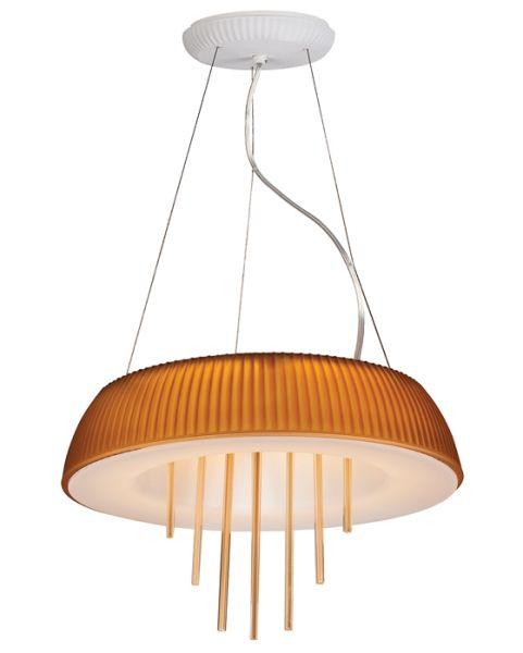 Nowoczesna lampa wisząca pomarańczowa Ozcan
