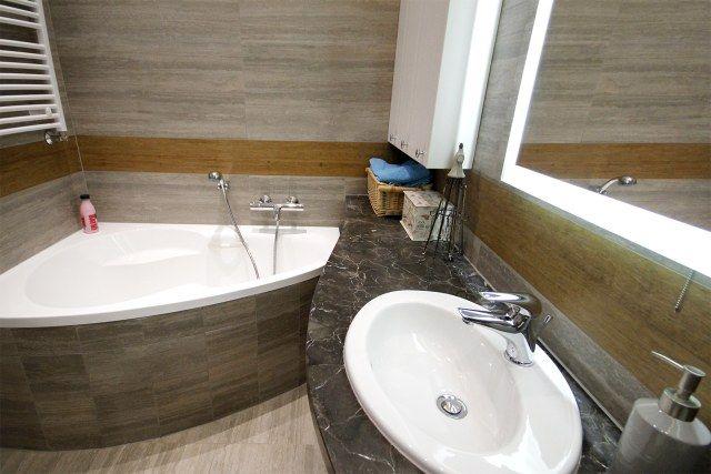 Galeria Zdjęć Zdjęcie łazienka Z Wanną Narożną I Blatem Z