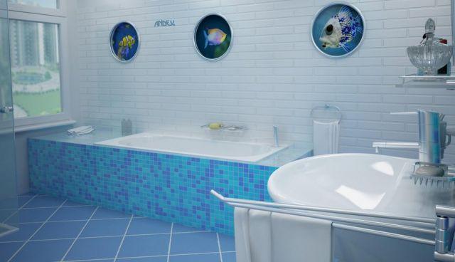 Łazienka w stylu marynistycznym Andex