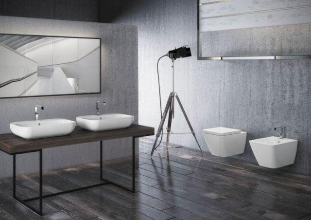 ceramika Touch 3 marki Disegno w wersji podwieszanej oraz umywalki na konsoli