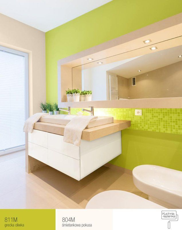FFiL Śnieżka - łazienka z zieloną ścianą
