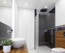 Mozaika W łazience Galeria łazienka Z Biało Czarną Mozaiką