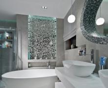 Mozaika W Lazience Galeria Lazienka Z Bialo Czarna Mozaika