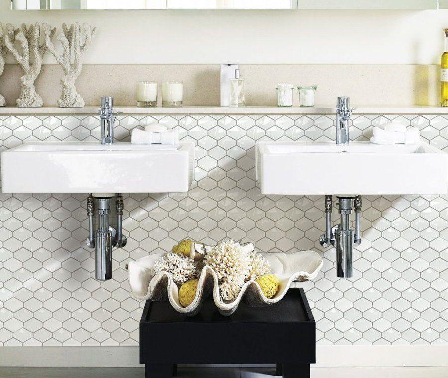Raw Decor - trójwymiarowa przestrzenna mozaika ceramiczna Diamond