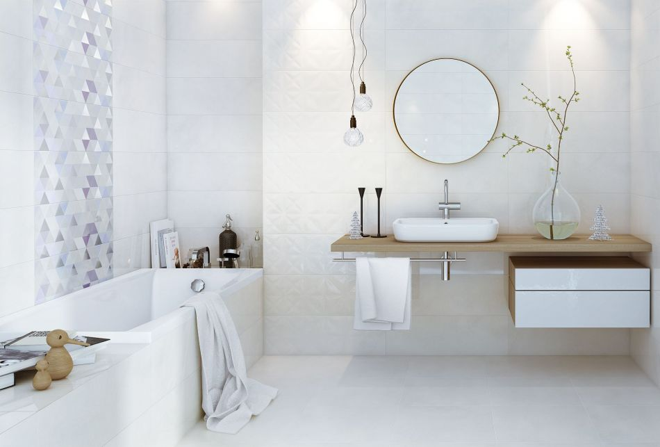 Łazienka w stylu skandynawskim - galeria - GeometricGame Opoczno, łazienka w stylu skandynawskim ...