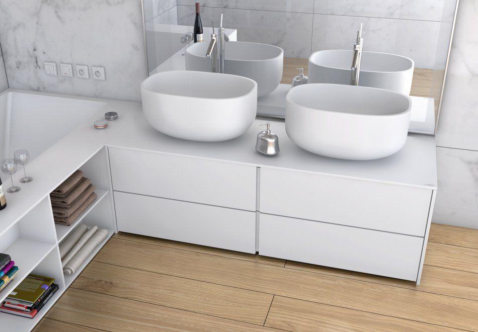 Nowoczesne meble łazienkowe na wymiar - meble i akcesoria - :Luxum: - lazienkowy.pl
