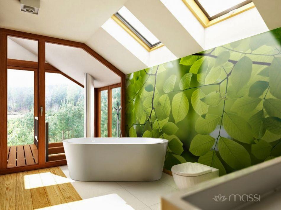 Massi - łazienka w kolorach zieleni