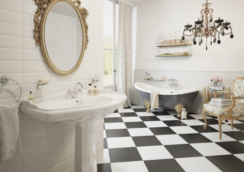 Ferro - aranżacja łazienki w stylu glamour
