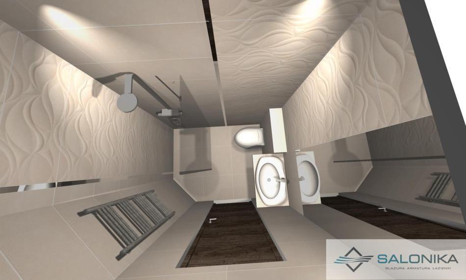 Salonika - galeria - projekt małej łazienki - widok z góry - Łazienkowe inspiracje, aranżacje ...