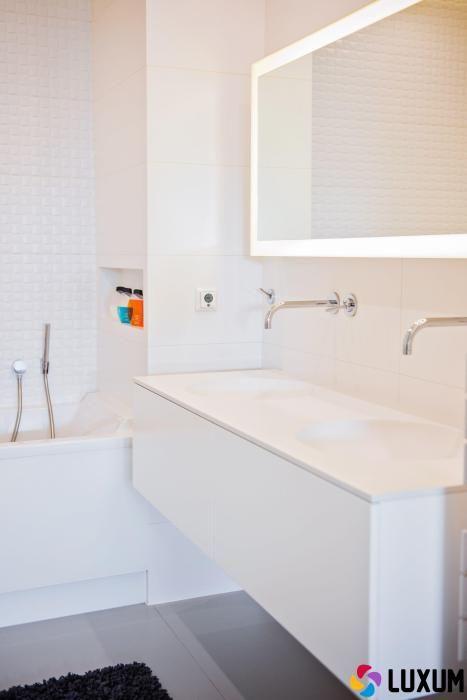 minimalistyczna łazienka z wyposażeniem od Luxum