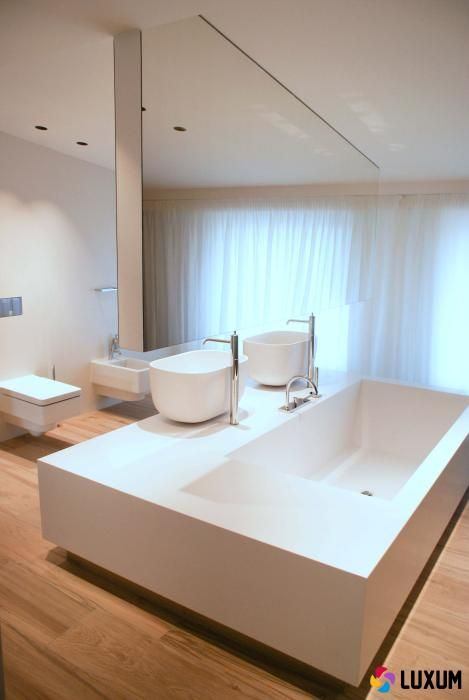 nowoczesna łazienka z produktami Luxum