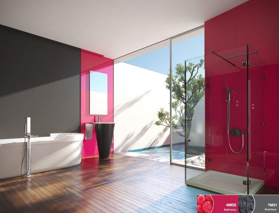 Szklane panele ścienne w łazience