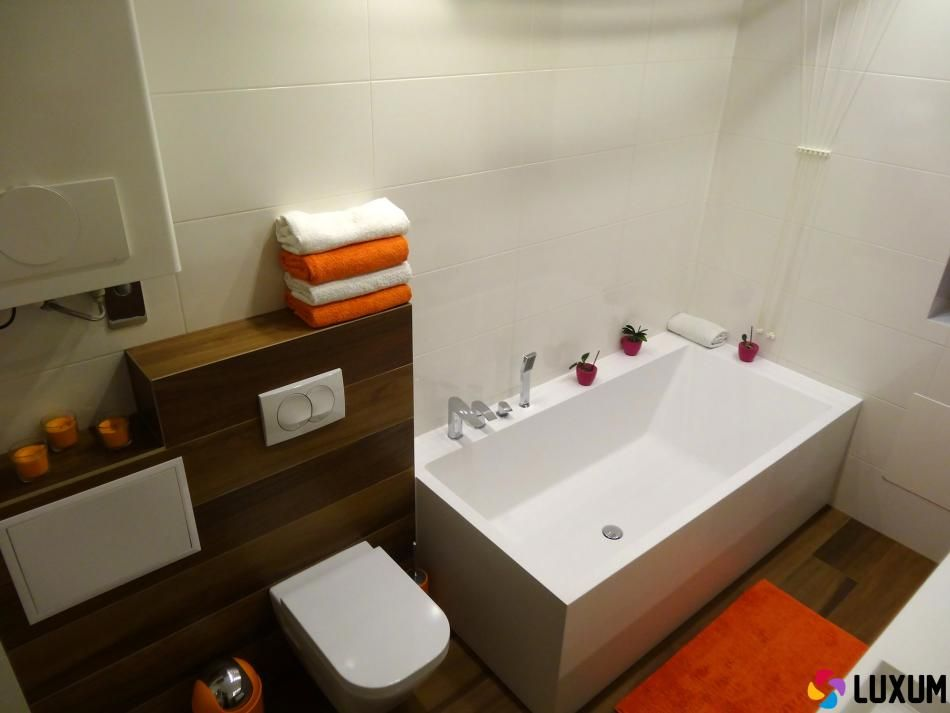 nowoczesna łazienka z wyposażeniem od Luxum