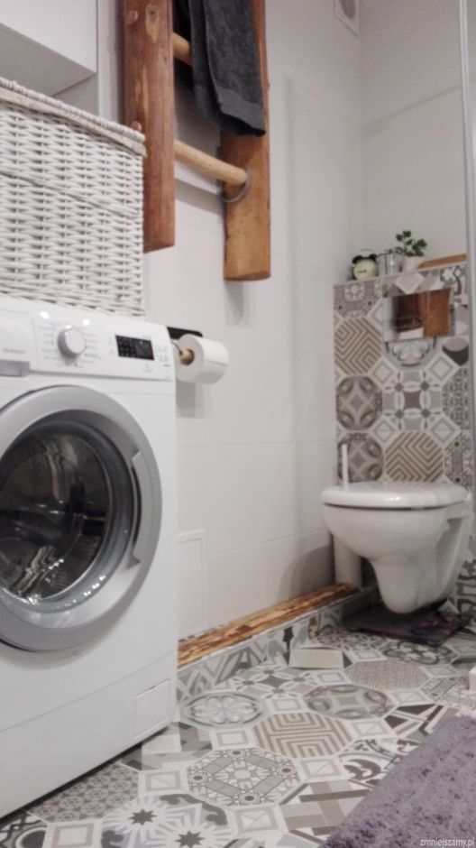 Płytki patchwork w łazience