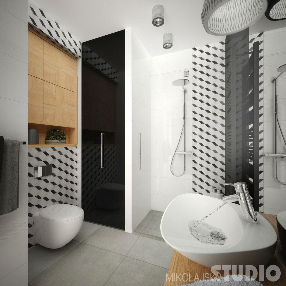 Aranżacje małych łazienek album - galeria - Płytki ceramiczne z efektem 3D w malej łazience ...