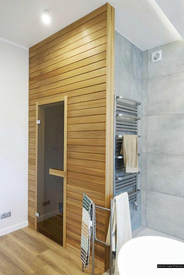 Pokój kąpielowy z sauną - galeria - Mała sauna w łazience - Łazienkowe inspiracje, aranżacje ...