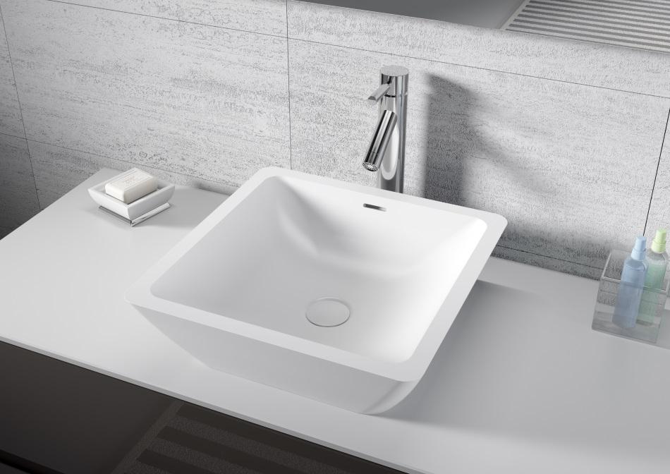 AVELLA - umywalka z serii Solid Surface (kwadratowa)
