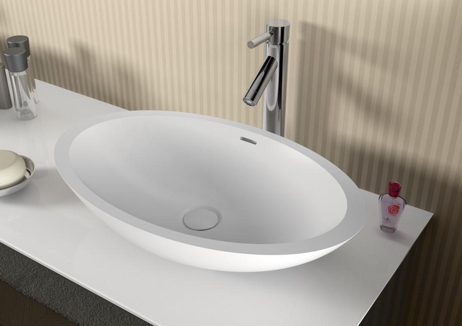 AVELLA - umywalka z serii Solid Surface (owalna)