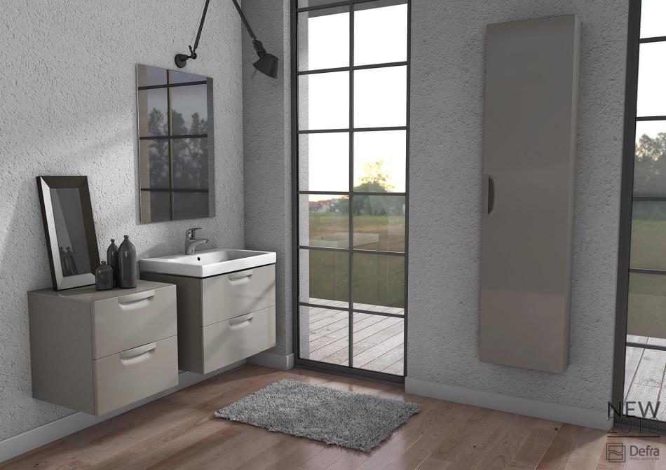 Nowoczesne rozwiązania - minimalistyczne meble łazienkowe Defra