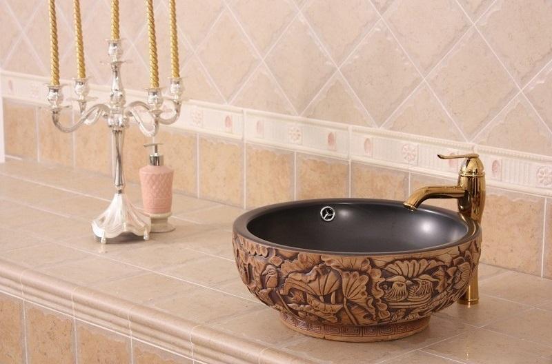 Umywalka ceramiczna ręcznie malowana Retrowoda.pl Este
