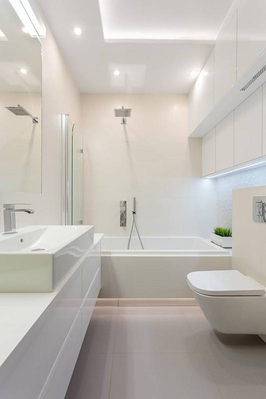 Aranżacje małych łazienek album - galeria - Mała biała ...