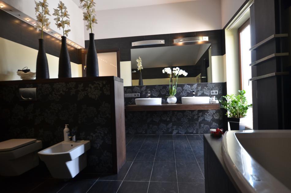 Meble łazienkowe z drewna dębowego