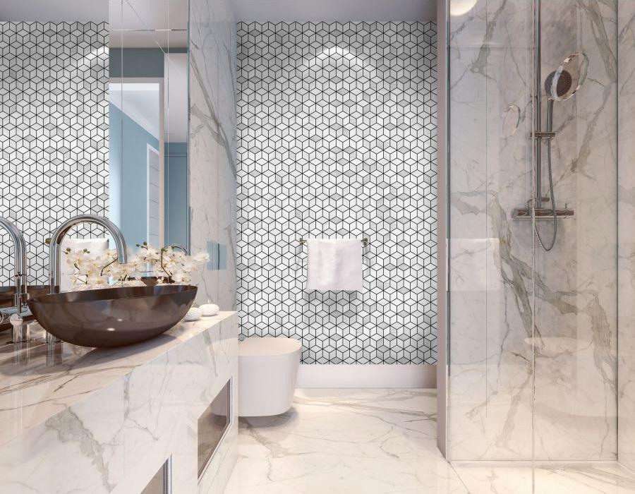Diamond marble mat - kolekcja Marble - Raw Decor
