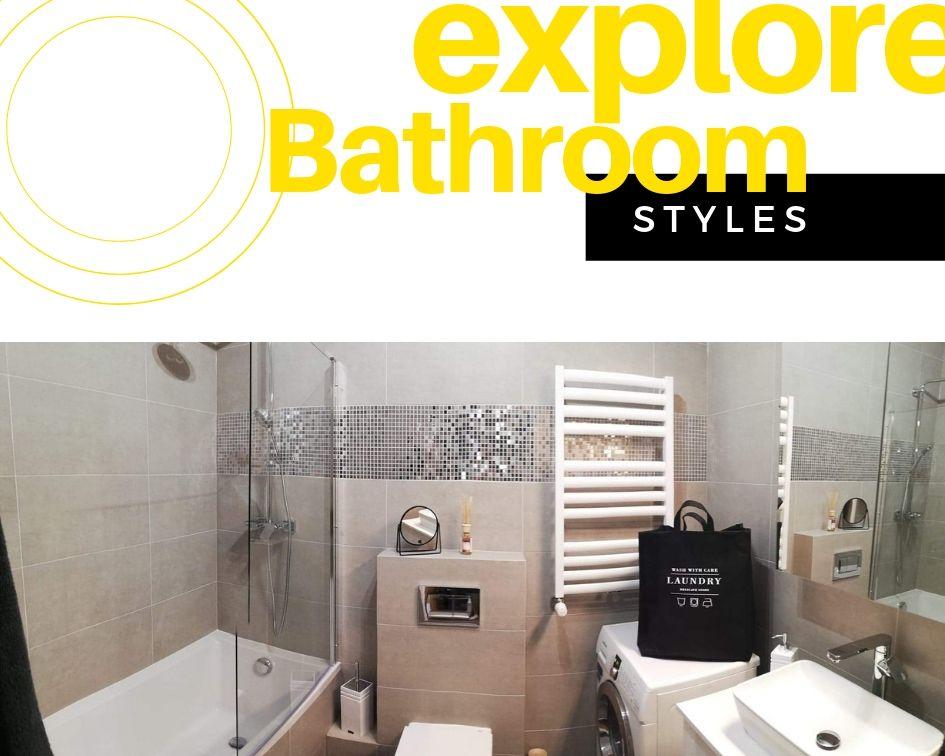 Aranżacja małej łazienki z mozaiką i parawanem nawannowym
