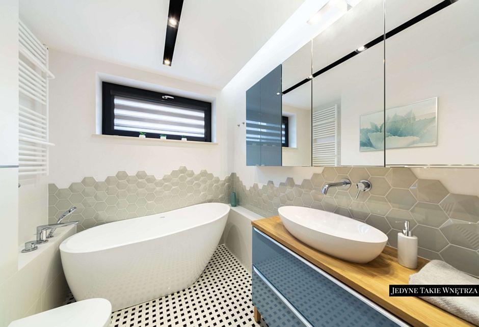 Aranżacja lustra w łazience w stylu skandynawskim