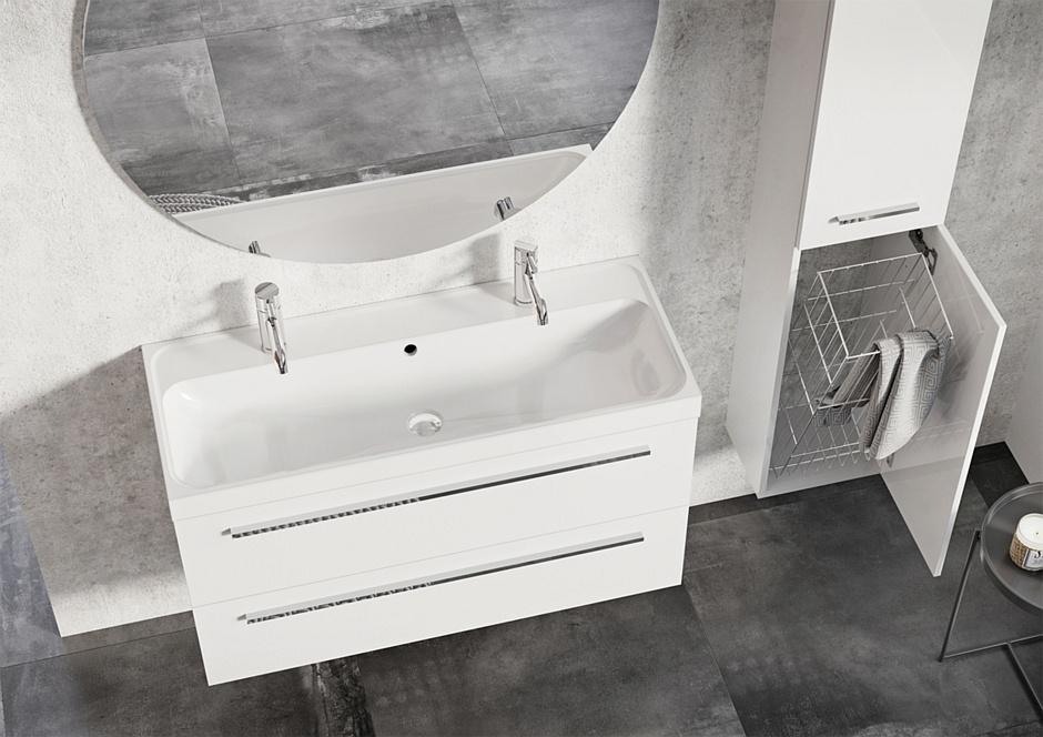 Szafka pod umywalkę z kolekcji Kwadro Plus
