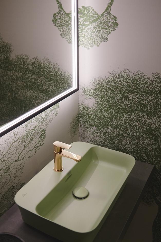 Umywalka Ipalyss w kolorze zielonym