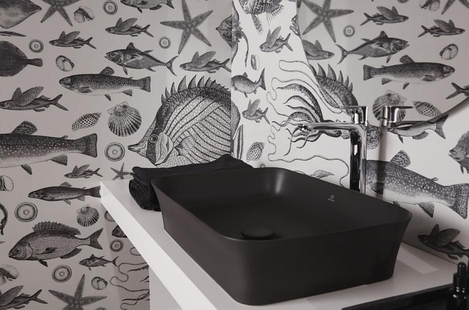 Czarna umywalka Ipalyss