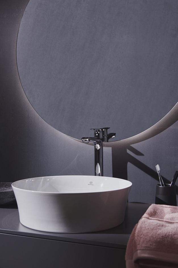 Biała okrągła umywalka Ipalyss