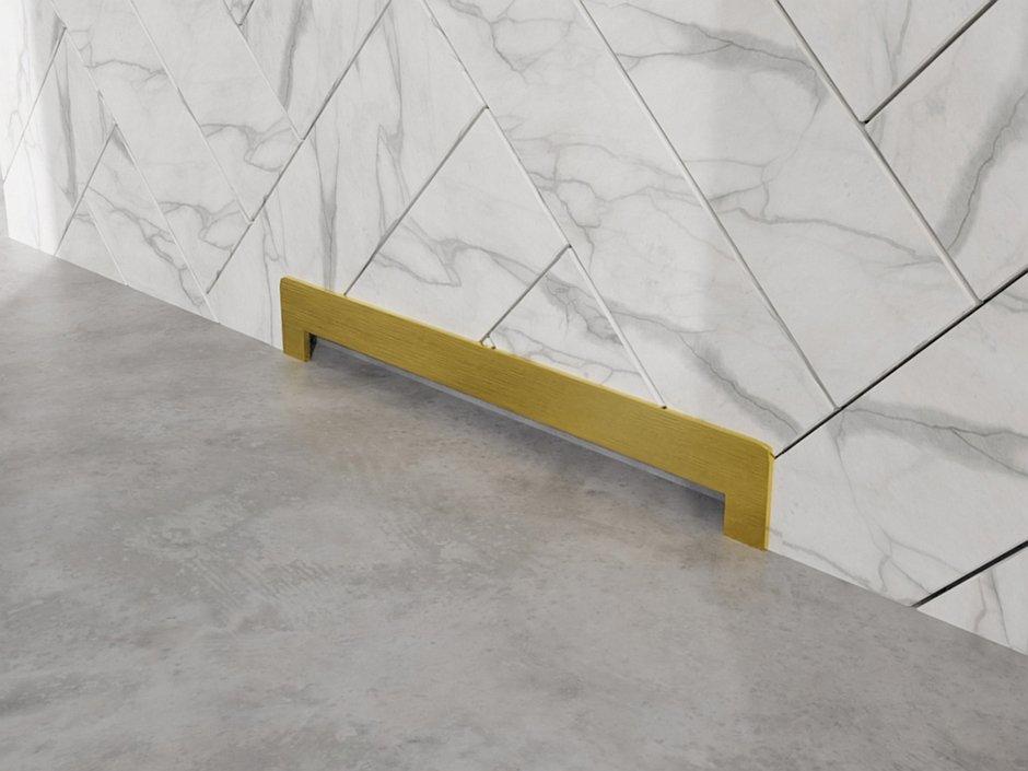Odpływ ścienny Wall Slim Gold - Mosiądź M11