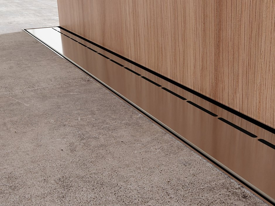 Odpływ liniowy Super Slim Steel - Line