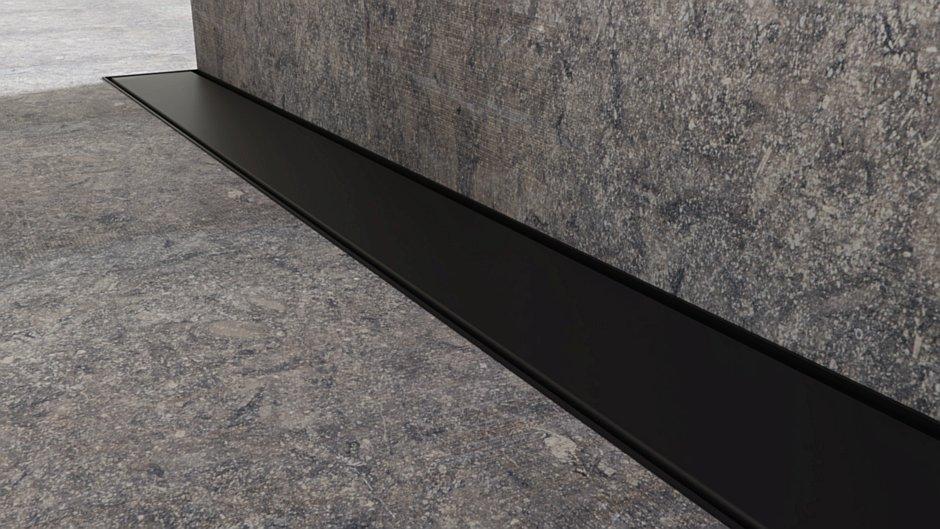 Odpływ liniowy Super Slim Black - Idea