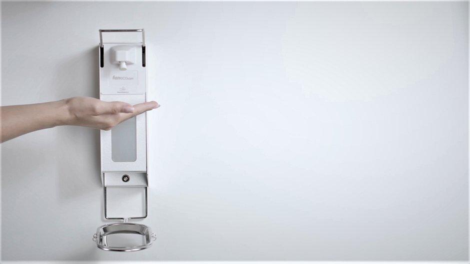 Automatyczny bezdotykowy dozownik  środków dezynfekcyjnych i mydła w płynie