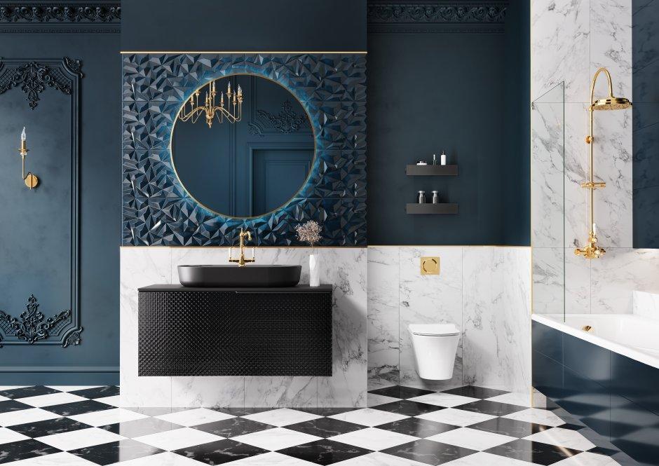 Kolekcja mebli łazienkowych Glam Black Mat